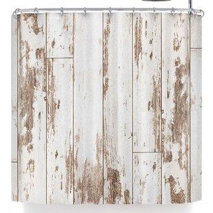Susan Sanders White Barn Weathered Wood Single Shower Curtain