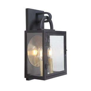 Top Reviews Wymer 2-Light Outdoor Wall Lantern By Breakwater Bay