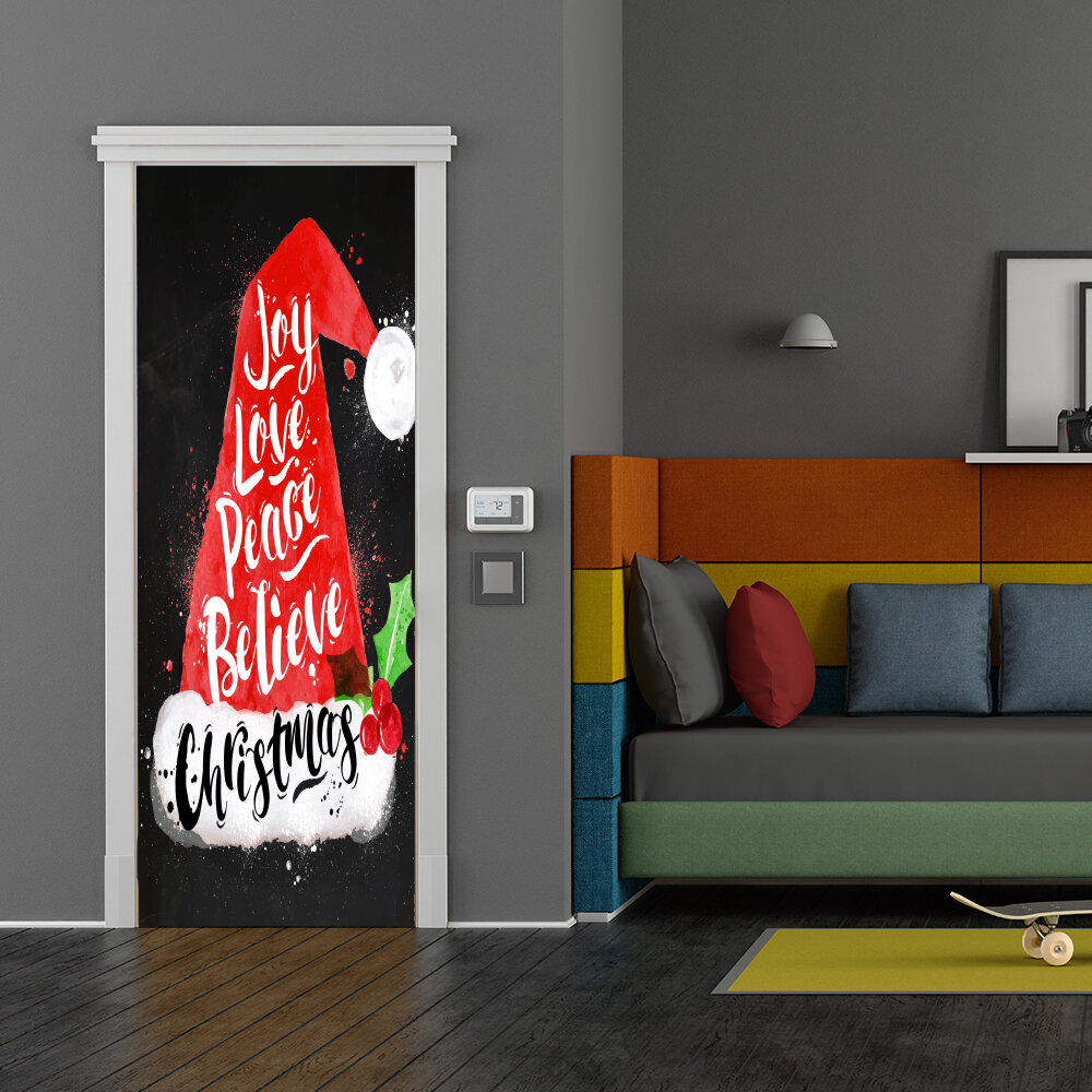 The Holiday Aisle Joy Love Peace Believe Christmas Door Mural Wayfair