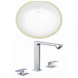 Looking for CUPC Ceramic Oval Undermount Bathroom Sink with Faucet and Overflow By Royal Purple Bath Kitchen