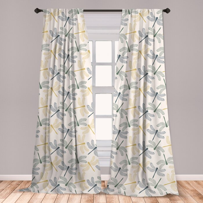 Ambesonne Dragonfly Curtains