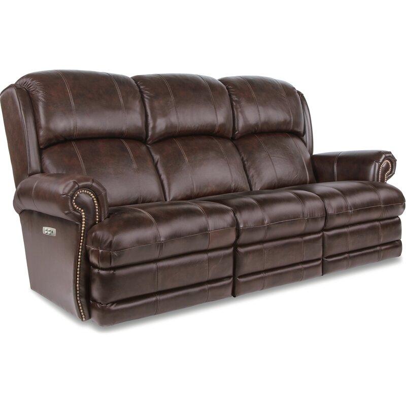 La Z Boy Kirkwood Leather Reclining Sofa Reviews Wayfair