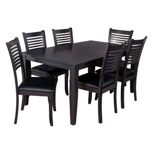 Aden 7 Piece Solid Wood Dining Set
