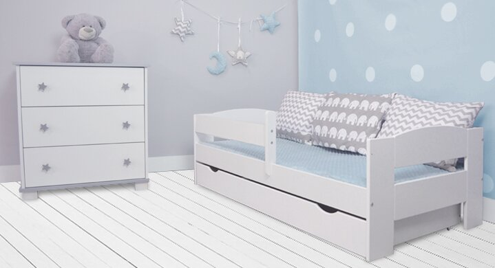 m bel concept kinderbett elena mit matratze und schublade. Black Bedroom Furniture Sets. Home Design Ideas