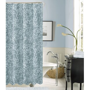 Blue Fabric Shower Curtain