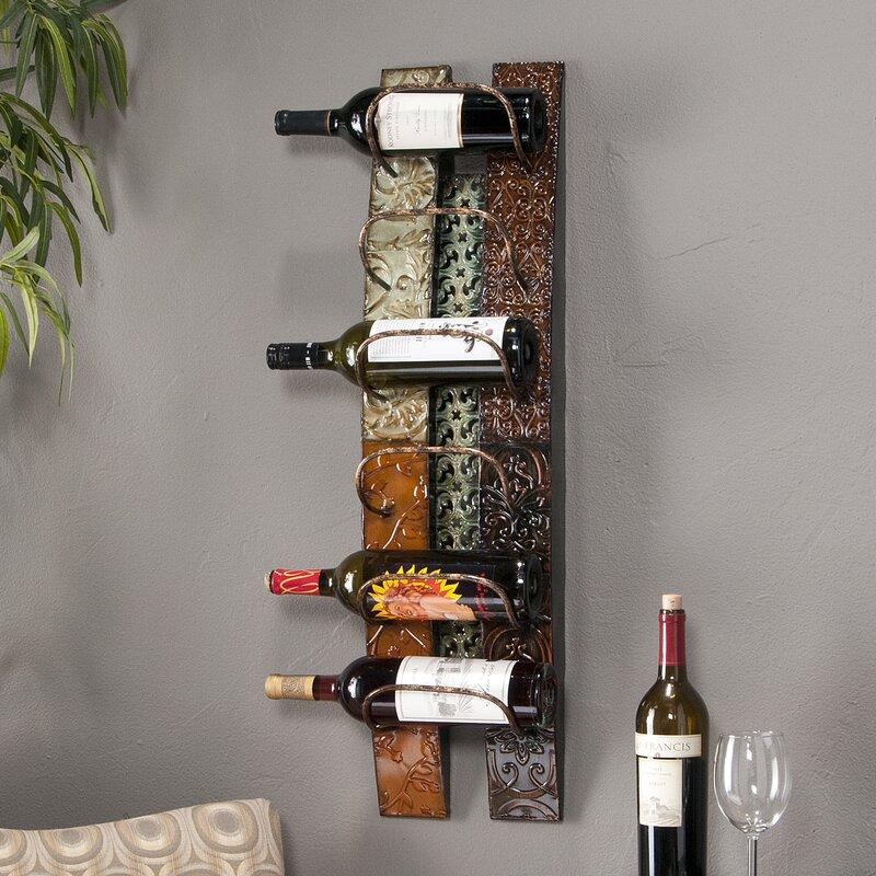 Wall Mounted Wine Racks Part - 45: Zendaya 6 Bottle Wall Mounted Wine Rack