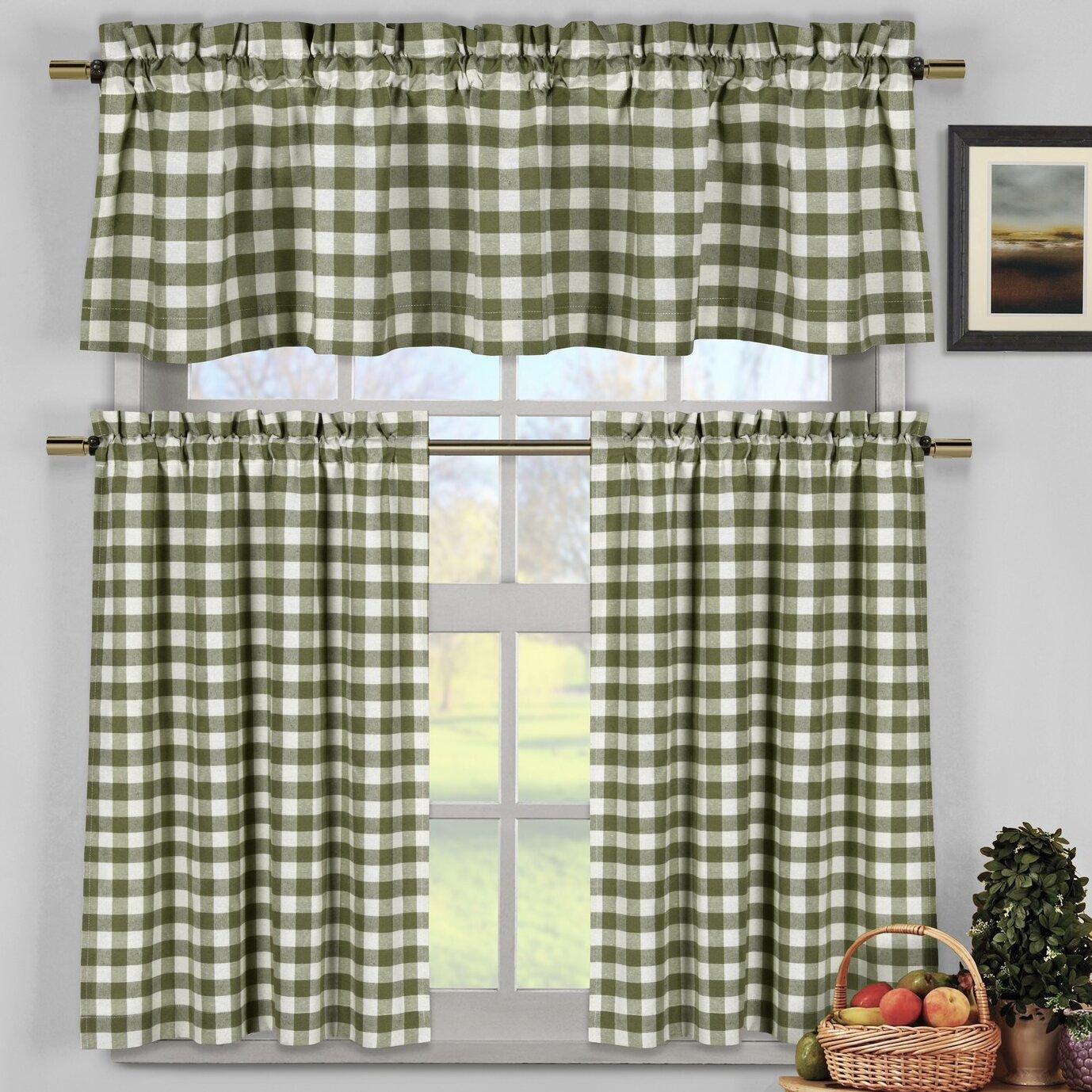Loon Peak Guyette 3 Piece Kitchen Curtain Set Reviews