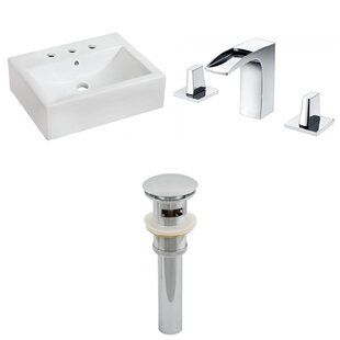 Great Price Ceramic 20 Wall-Mount Bathroom Sink with Faucet and Overflow ByRoyal Purple Bath Kitchen