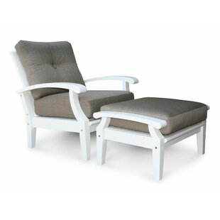 Lowery White Lounge Chair with Cushion