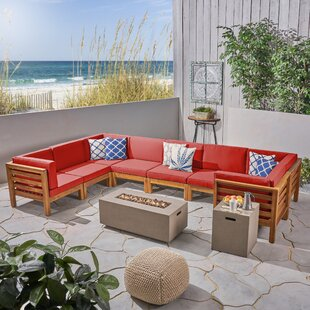 Neil Outdoor U-Shaped 10 Piece Sectional Seating Group with Cushions