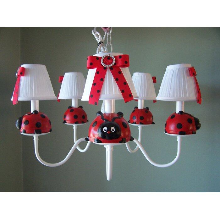 Little Ladybug 3 - Light Shaded Classic Chandelier