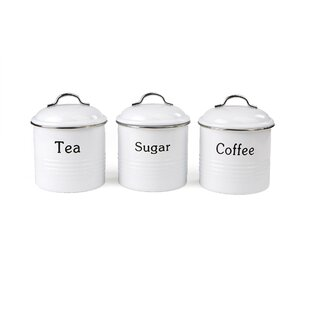 3 Piece Coffee, Tea And Sugar Jar Set