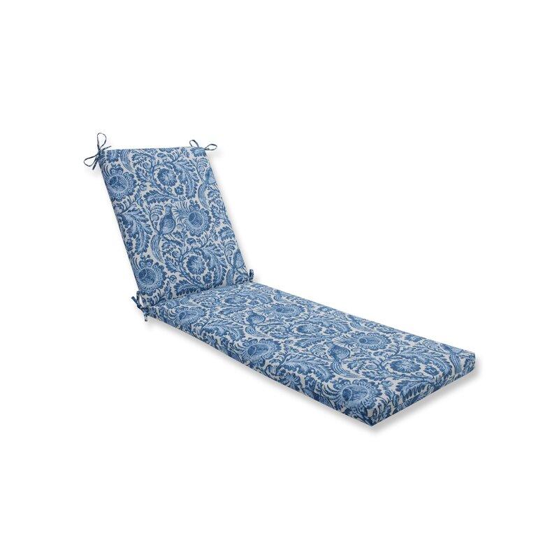 Ophelia Co Tucker Resist Azure Indoor Outdoor Chaise Lounge Cushion Wayfair