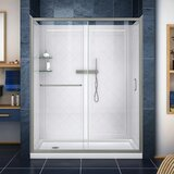 Dreamline Infinity-Z 36 W x 76.75 H x 60 D Sliding Door Shower Enclosure by DreamLine