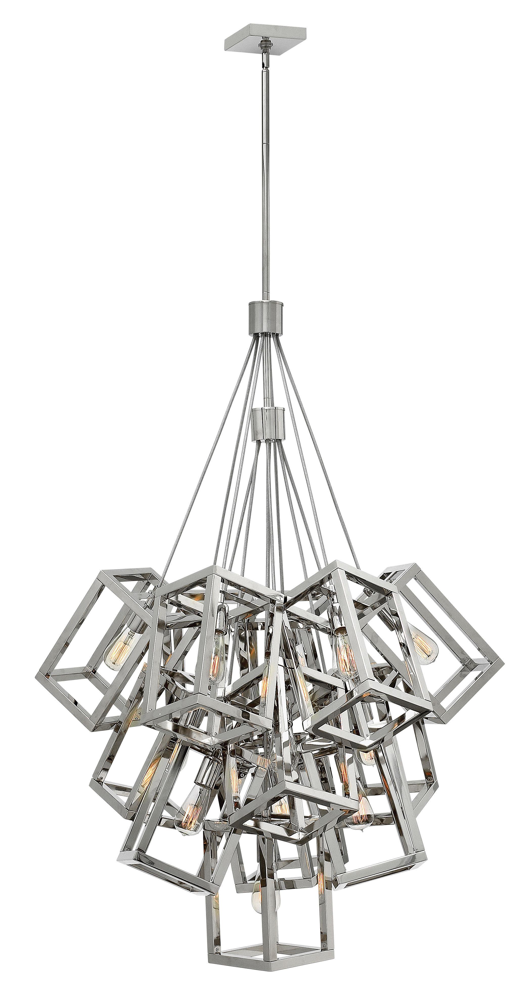 Hinkley lighting ensemble 13 light cluster pendant wayfair