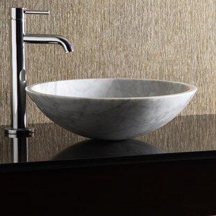 Exceptional White Marble Vessel Sink   Wayfair