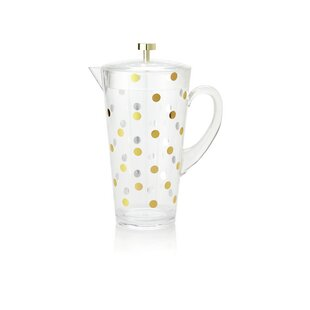 Raise a Glass Acrylic Pitcher, Gold Dots