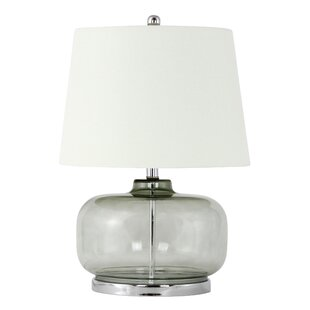 Modern contemporary glass base table lamp allmodern cybulski glass 23 table lamp aloadofball Gallery