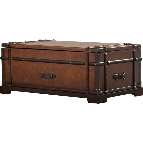 Darby Home Co Delavan Steamer Coffee Table Trunk With Lift Top U0026 Reviews    Wayfair