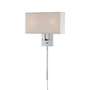 Puccio 2 Light Plug In Armed Sconce