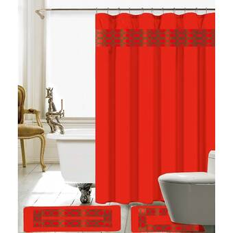 Red Barrel Studio Wellow Shower Curtain Set Reviews Wayfair