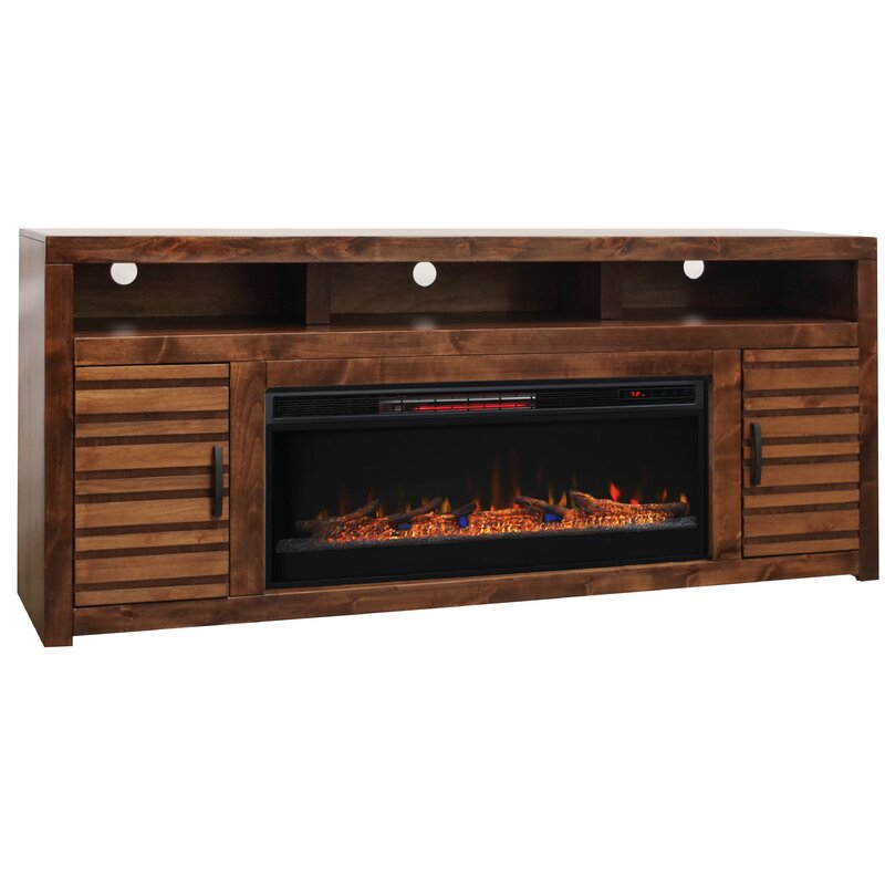 Loon Peak Belle Isle Tv Stand For Tvs Up To 78 Electric Fireplace