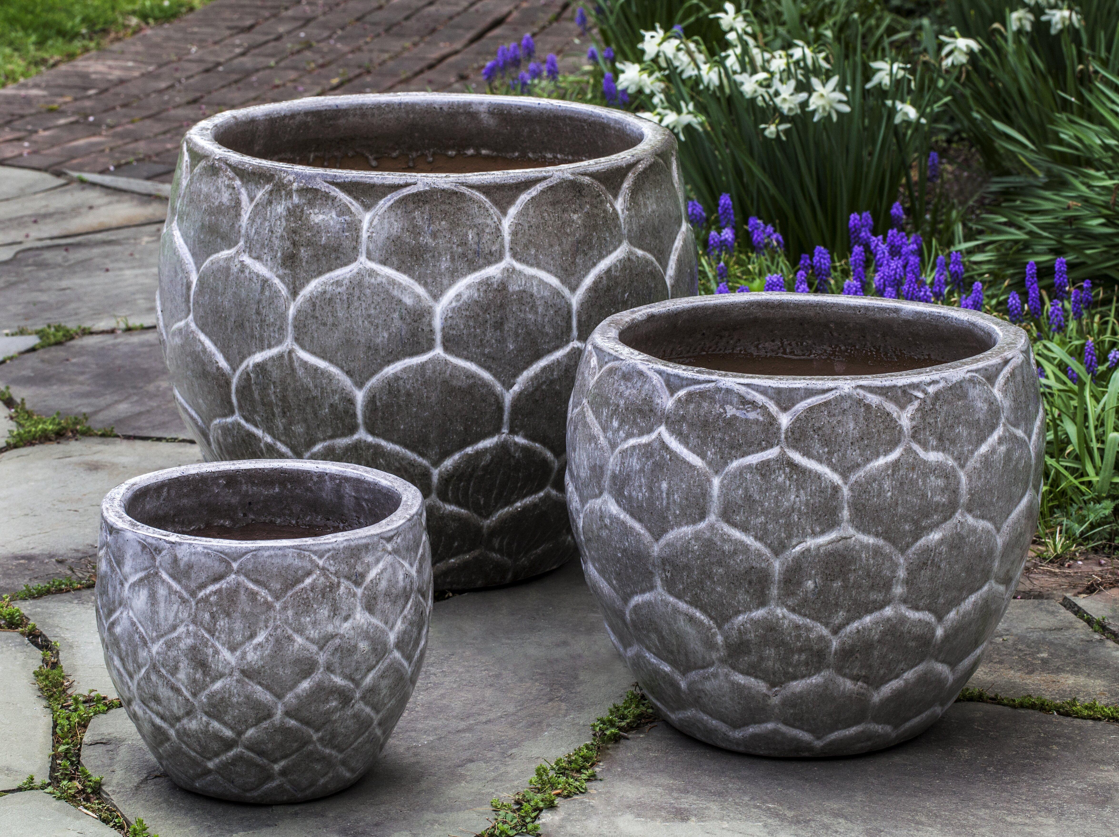 Campania International Inc Pina 3 Piece Terracotta Pot Planter Set Perigold