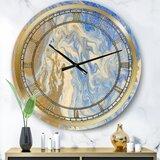 Marble Wall Clock Wayfair