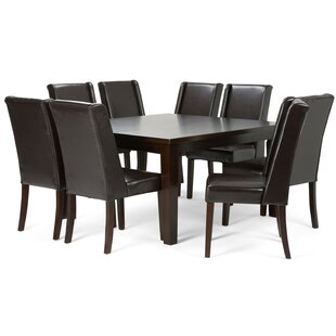 Boudreau 9 Piece Dining Set Canora Grey