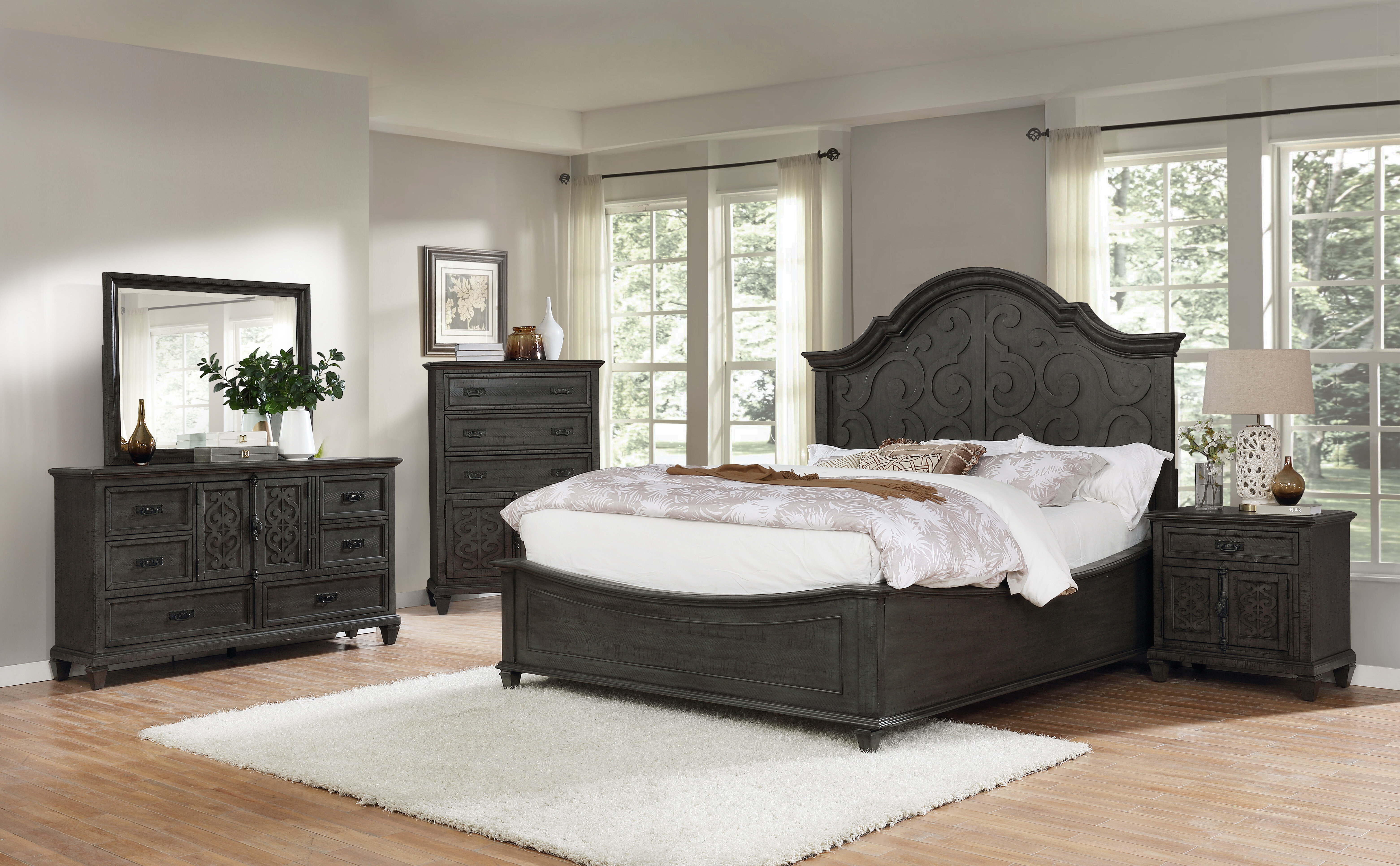 Fleur De Lis Living Schulman Standard 5 Piece Bedroom Set Wayfair