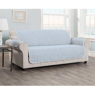 Harper Striped T-cushion Sofa Slipcover