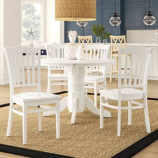 Langwater Traditional 5 Piece Solid Wood Dining Set Beachcrest Home