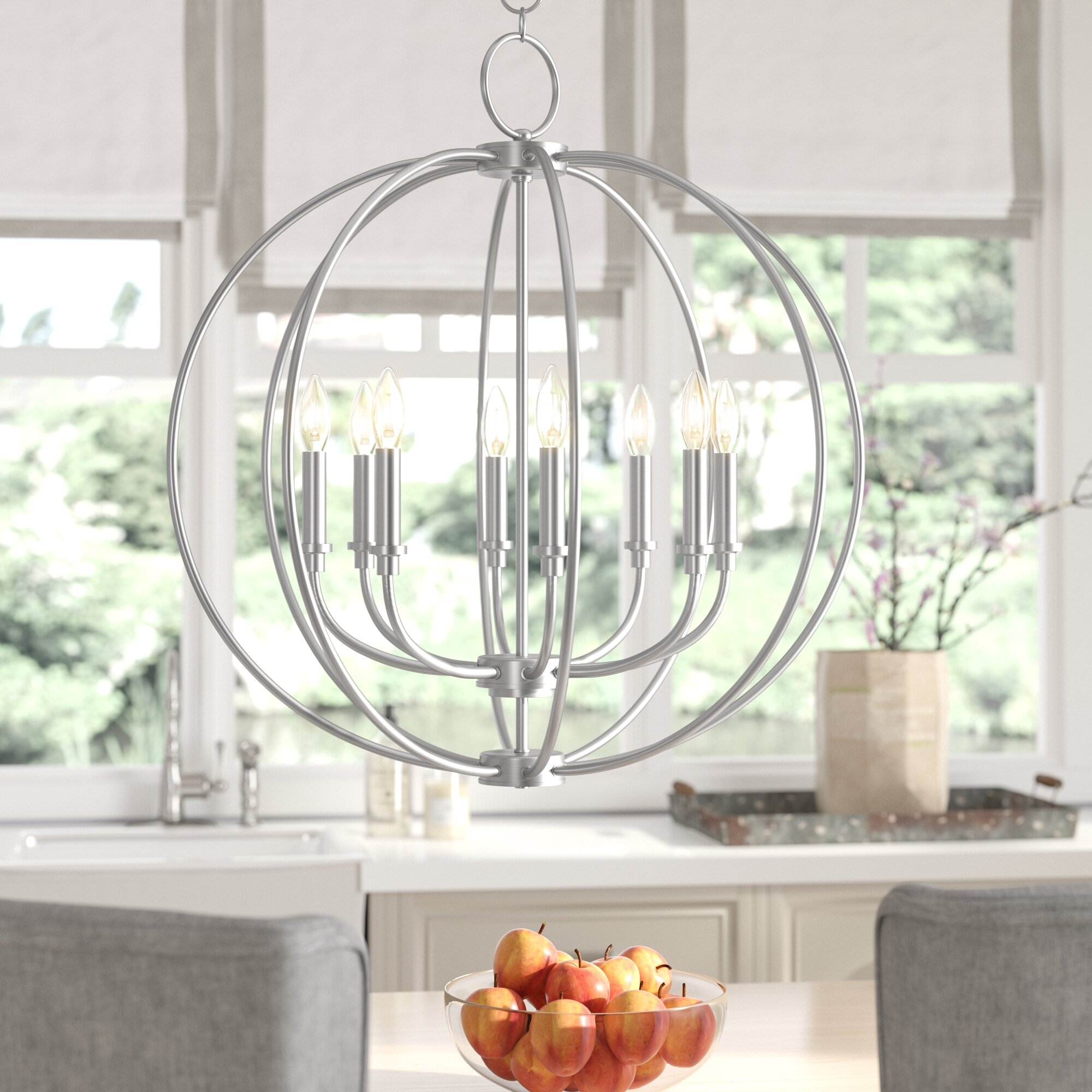 Naomie 8 Light Candle Style Globe