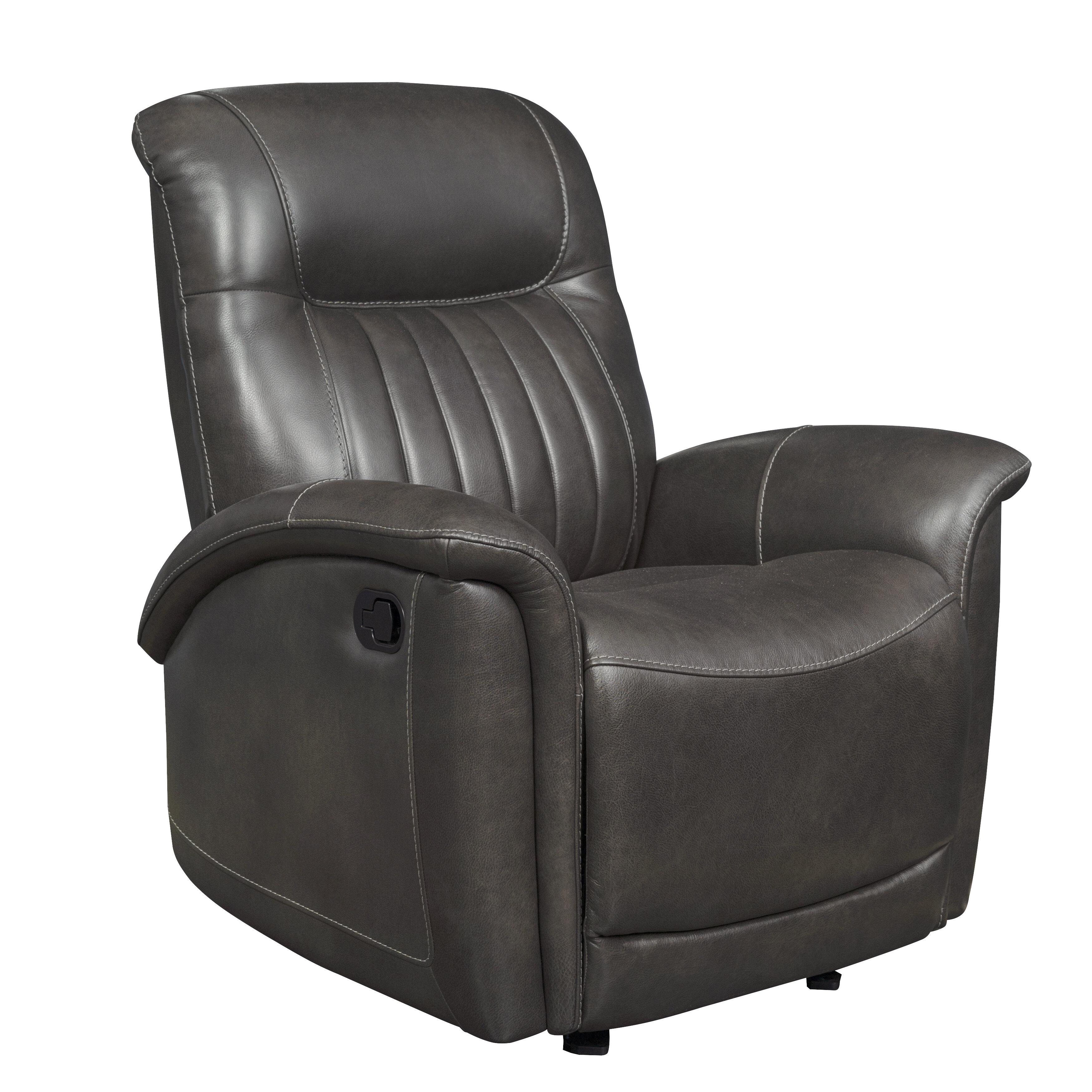 Latitude Run Trachoni Genuine Leather Recliner Reviews Wayfair