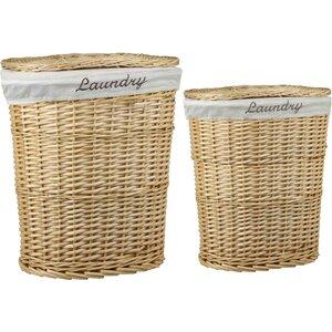2-Piece Wicker Laundry Hamper Set