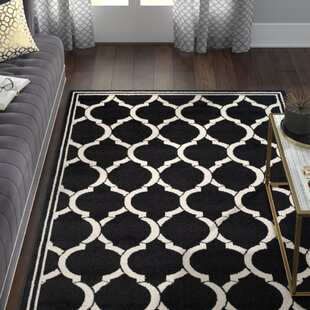 Maritza Anthracite/White Indoor/Outdoor Area Rug By Willa Arlo Interiors