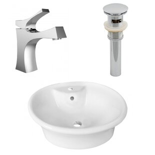Savings Above Counter Ceramic Oval Vessel Bathroom Sink with Faucet and Overflow By Royal Purple Bath Kitchen