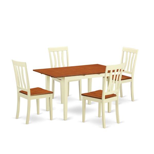 Wooden Importers Norfolk 5 Piece Dining Set U0026 Reviews | Wayfair
