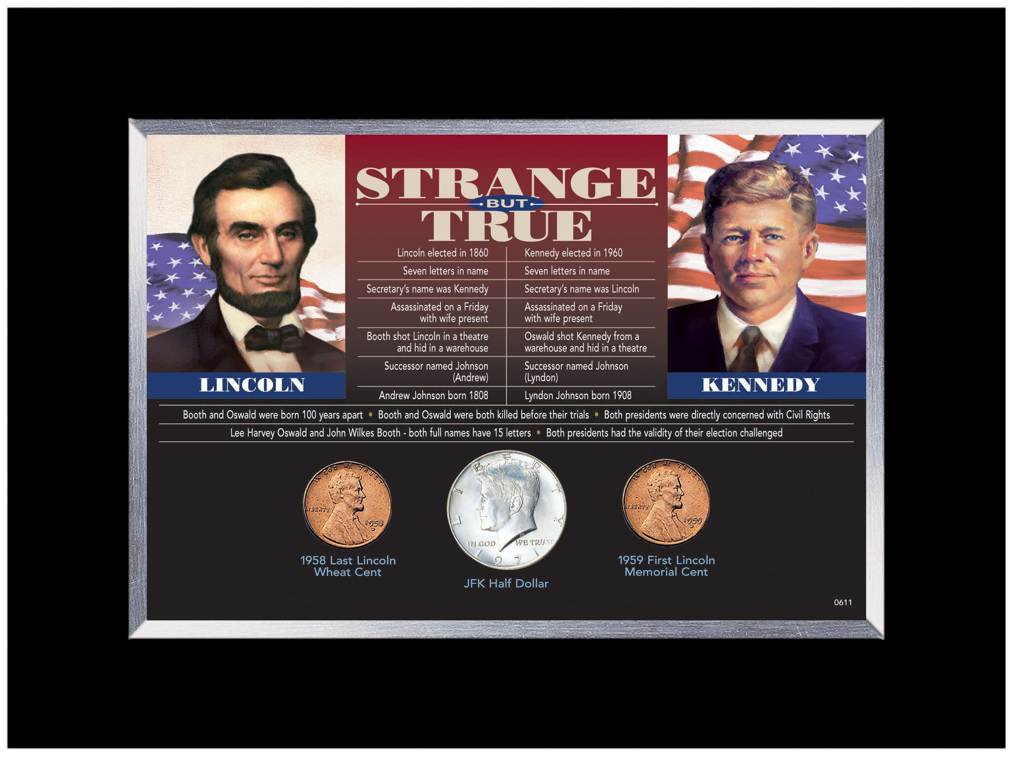 American Coin Treasure Strange But True Desk Framed Memorabilia Wayfair