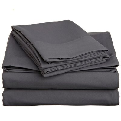 Off To Bed 6 Piece Comfort Deep Pocket Sheet Set Colour: Grey, Size: Queen