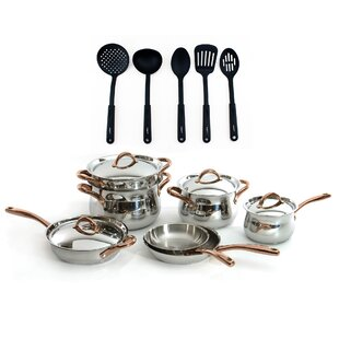 Ouro 16 Piece Stainless Steel Cookware Set
