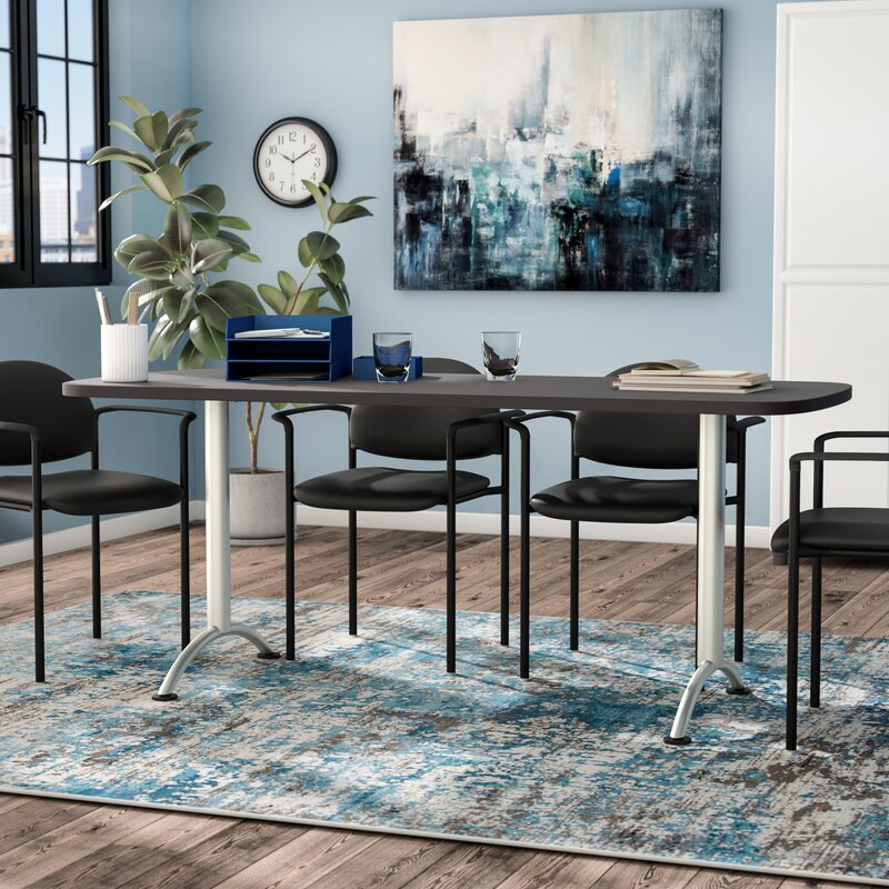 Symple Stuff Curved End Conference Table Reviews Wayfair - Curved conference table