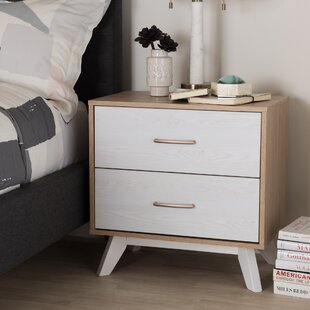 Vitiello 2 Drawer Nightstand by George Oliver