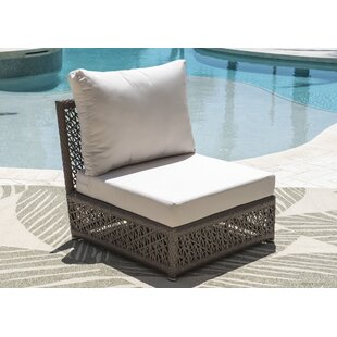 Maldives Armless Patio Chair with Sunbrella Cushions