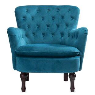 Didonato Velvet Tufted Upholstered Armchair