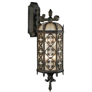 Deals Costa Del Sol 3-Light Outdoor Wall Lantern By Fine Art Lamps