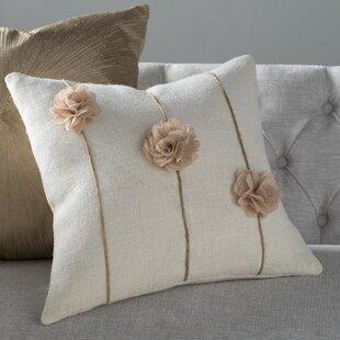 Floral Burlap Throw Pillow