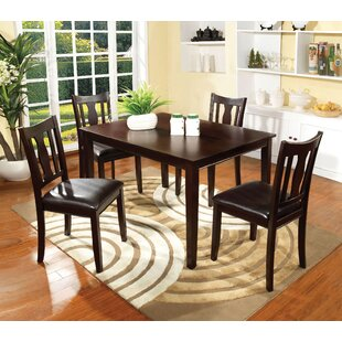 Crewellwalk 5 Piece Dining Set Latitude Run