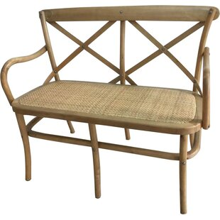 Hibbler Wood Bench by August Grove