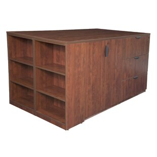 Linh Stand Up Lateral File and 3 Storage Cabinet Quad with Bookcase End by Latitude Run